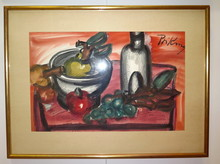 Franz PRIKING - Dibujo Acuarela - Nature morte