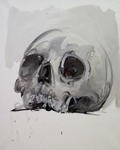 Philippe PASQUA - Peinture - Crâne II