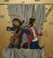 Tatjana PALCUKA - Painting - Duet with cellist    (Cat N° 6083)