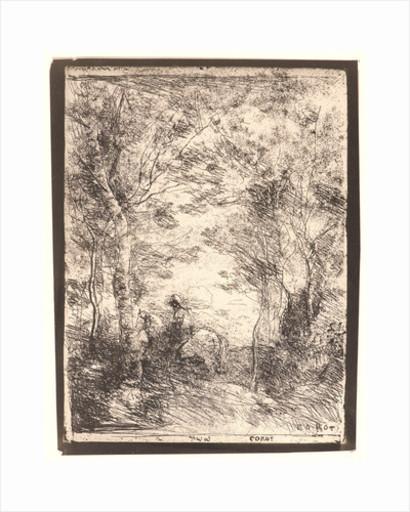 Camille Jean-Baptiste COROT - Print-Multiple - Le Petit Cavalier sous Bois
