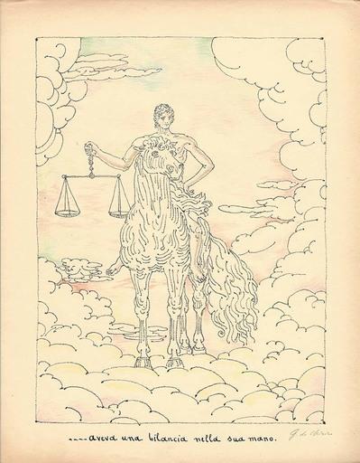 乔治•德•基里科 - 版画 - Aveva una bilancia nella sua mano,1941
