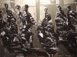 PERECOLL - Painting - En el metro