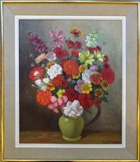 Auguste CLERGEAU - Pittura - Bouquet de fleurs