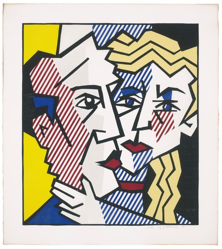 Roy LICHTENSTEIN - Print-Multiple - The Couple, from Expressionist Woodcut Series