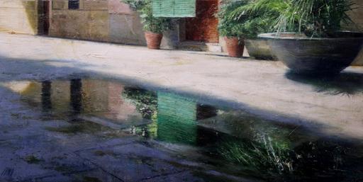Carlos DIAZ - Pittura - Persiana verde