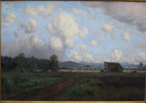 Carl REICHERT - 绘画 - Landschaft mit Rehen (Bayern/Österreich)