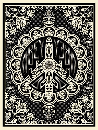 "Shepard FAIREY - Druckgrafik-Multiple - ""Peace bomber"" (Black)"