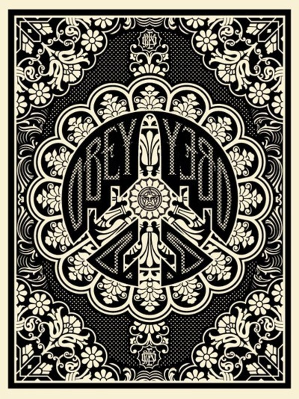 "Shepard FAIREY - Estampe-Multiple - ""Peace bomber"" (Black)"