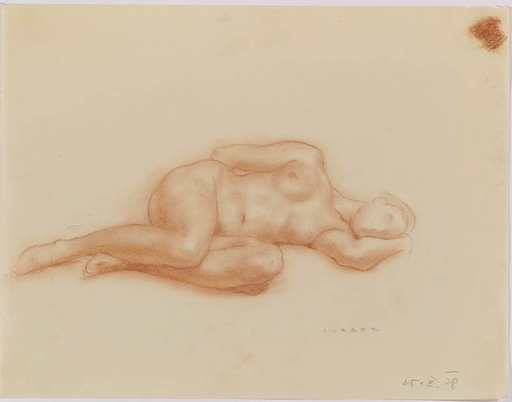 "Ferdinand LORBER - Zeichnung Aquarell - ""Female Nude"", Drawing, 1928"