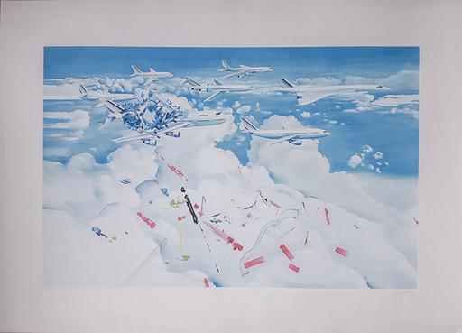 Jacques MONORY - Print-Multiple - Accident d'avion
