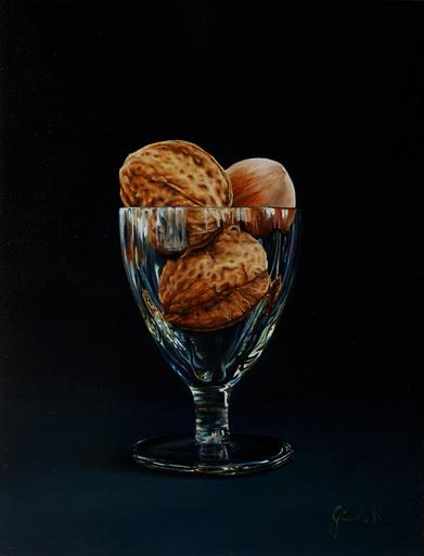 Riccardo GIRAUDO - Gemälde - Bicchiere con noci