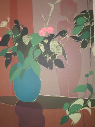 Freddy DEFOSSEZ - 版画 - Femme-fleurs,1985.