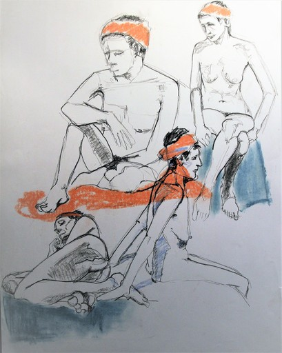 R.CAVALIÉ - Drawing-Watercolor - N.R. 138