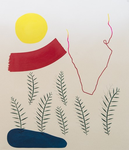 Aron HILL - Pittura - 7 Shadowed Palms