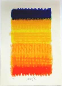 Heinz MACK - Grabado - Chromatik Rot-Gelb-Blau