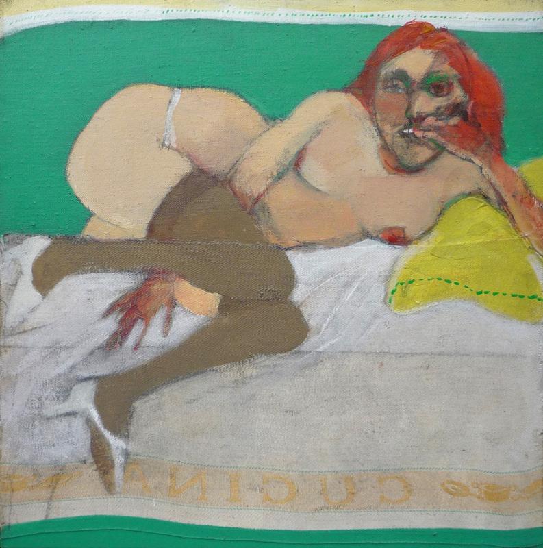 Carlos ALONSO - Gemälde - Figura femminile