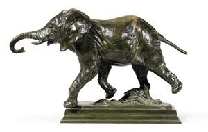 Alfred BARYE - Sculpture-Volume - Running Elephant