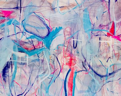 Macha POYNDER - Gemälde - Dance and Jump Across the Abyss