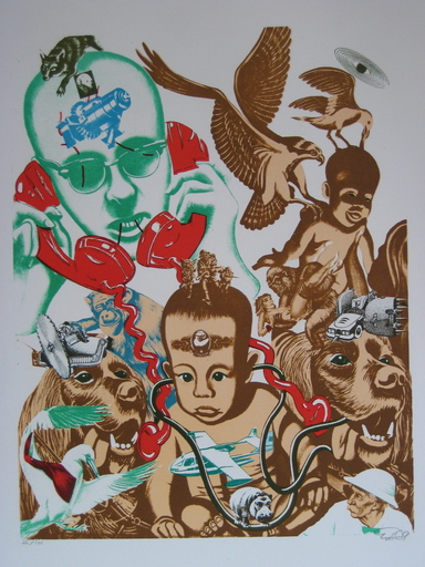 小野洋子、爱罗 - 版画 - LITHOGRAPHIE SIGNÉE CRAYON NUM/100 HANDSIGNED LITHOGRAPH