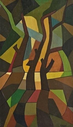 Emilio PETTORUTI - Peinture - Paisaje