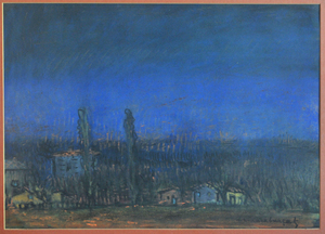 Ihsan Cemal KARABURÇAK - Drawing-Watercolor - The Village
