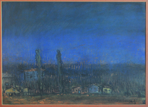 Ihsan Cemal KARABURÇAK - Disegno Acquarello - The Village