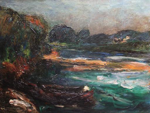 Adolphe PÉTERELLE - Pintura - Une barque