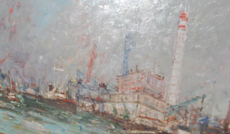 Joseph RAUMANN - Pittura - Vue d'un port