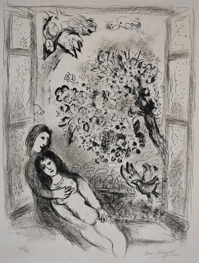 Marc CHAGALL - Stampa-Multiplo - The Open Window | La Fenêtre ouverte