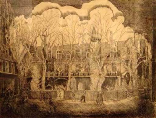 Elie LASCAUX - Dibujo Acuarela - Musèe de Cluny