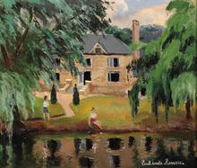 Paul Émile PISSARRO - Painting - People in a Park