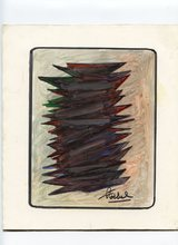 Edgar STOEBEL - Dessin-Aquarelle - PASTEL ET FEUTRE SIGNÉ SIGNED PEN AND PASTEL DRAWING