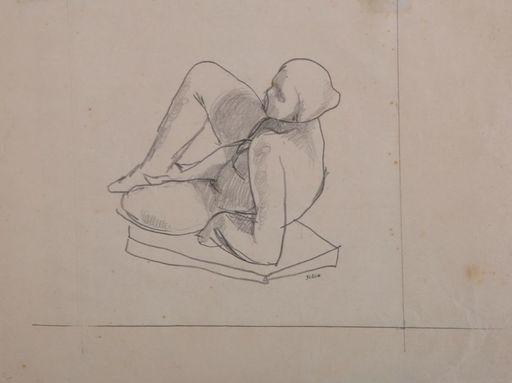 Shalom Siegfried SEBBA - Drawing-Watercolor - Nude