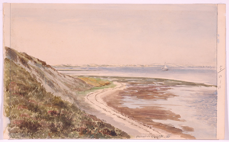 """Ludwig Hans FISCHER - Dibujo Acuarela - """"Motif from Island Sylt"""" by Ludwig Hans Fischer"""