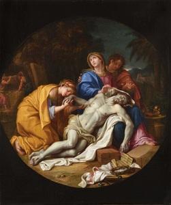 Louis LICHERIE DE BEURON - Peinture - La Déploration du Christ