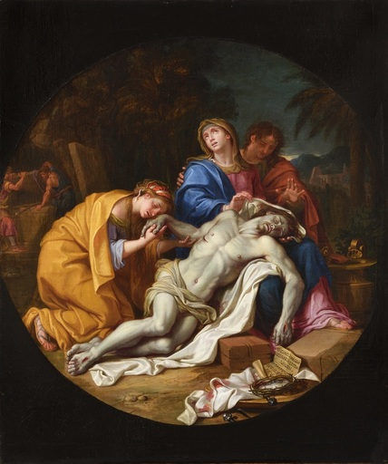 Louis LICHERIE DE BEURON - Pittura - La Déploration du Christ