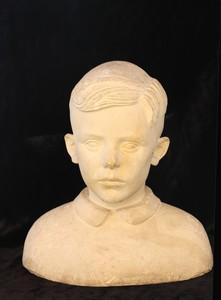 """Pierre Alfred Noël CAZAUBON - Sculpture-Volume - """"PORTRAIT D'UN JEUNE GARCON"""""""