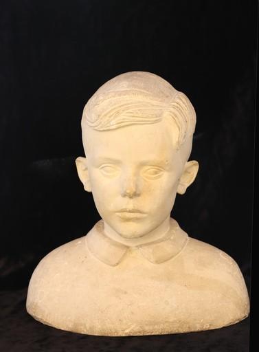 """Pierre Alfred Noël CAZAUBON - Escultura - """"PORTRAIT D'UN JEUNE GARCON"""""""