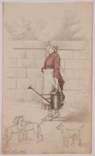 "Hans Johann HAAG - Drawing-Watercolor - ""Gardener"", 1882, Drawing"