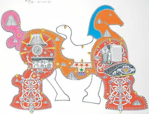 Harold Barling TOWN - Pintura - Toy Horse #155