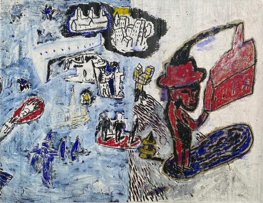 Albert PEPERMANS - Painting - B5 Life scene