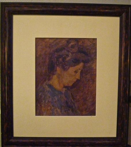 Léon Ernest DRIVIER - Pintura - Portrait Amélie DRIVIER