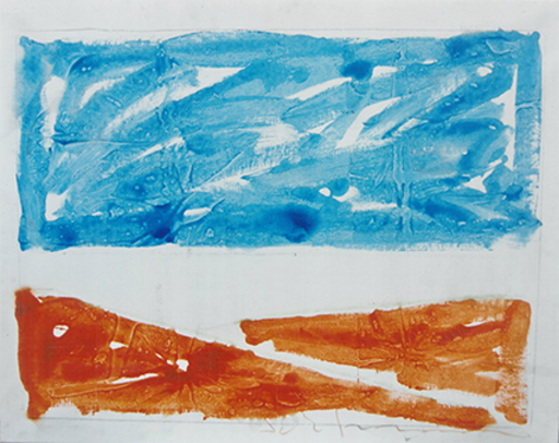 Mario SCHIFANO - Peinture - Paesaggio anemico