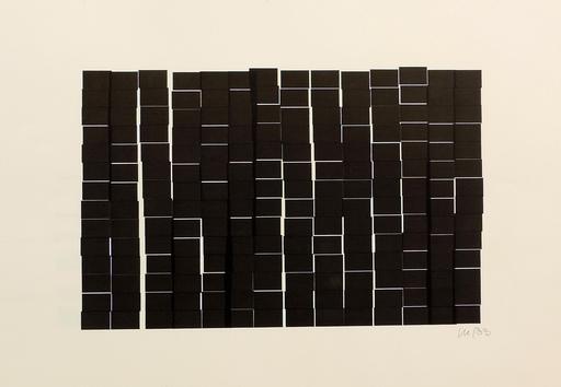 Véra MOLNAR - Zeichnung Aquarell - 196 rectangles à la règle d'or