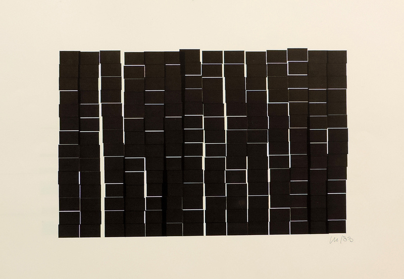 Véra MOLNAR - Drawing-Watercolor - 196 rectangles à la règle d'or