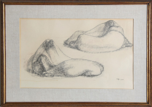 Francisco ZUÑIGA - Dibujo Acuarela - Seated Pair