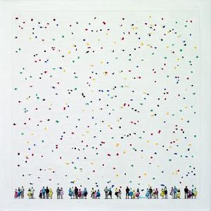 Chaouki CHAMOUN - Painting - blooming Skies VIII