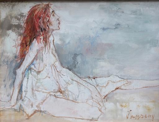 Jean JANSEM - Pintura - LA JEUNE FILLE AU JUPON