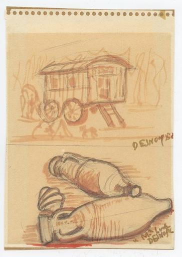 François DESNOYER - Zeichnung Aquarell - DESSIN AQUARELLE CRAYON SIGNÉ HANDSIGNED WATERCOLOR DRAWING