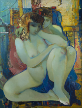 Mikhaïl TUROVSKY (1933) - Manhattan Bridge #2 (The Lovers)
